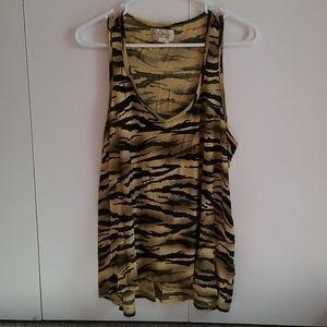 Womens zebra print tank top